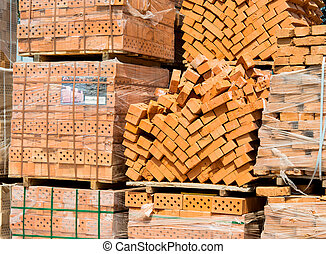 store of bricks ready for consruction