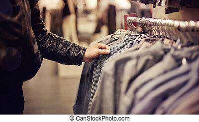 store., selección, ropa