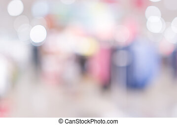 Store, shopping mall abstract defocused blurred background.