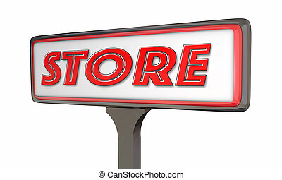 Store Sign New Business Opening 3d Illustration