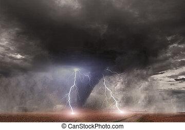 store, tornado, katastrofe