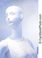 Store window fashion mannequin