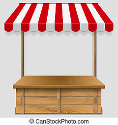 store window with striped awning - store window with striped...