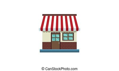 Store with money HD animation