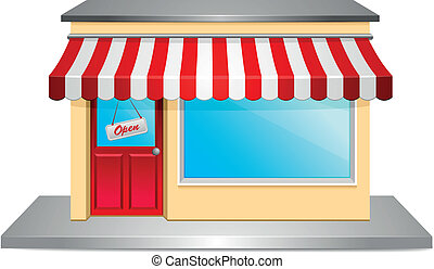 detailed illustration of a store front
