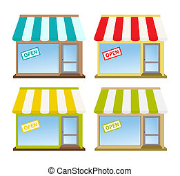 four color store fronts