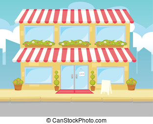 Storefront Generic - A cute and colorful generic storefront.