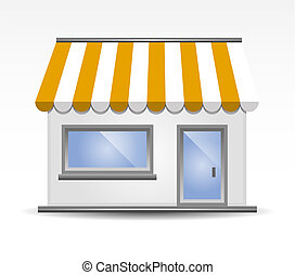 storefront, illustration, vecteur