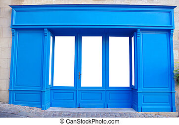 Storefront, shop - Customizable front store. Windows are and...