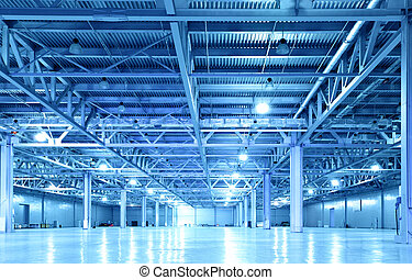 Storehouse - Empty storehouse toned in the blue color