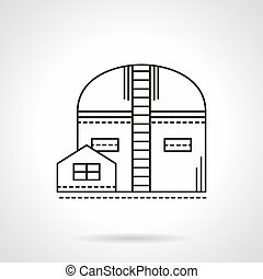 Storehouse flat line vector icon