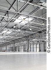 Storehouse - Interior of big empty storehouse
