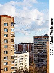 storey houses in urban residential quarter