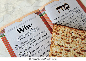 storia, antico, foglio, israeliti, santo, festival., seder,...
