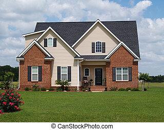 storia, due, casa, residenziale