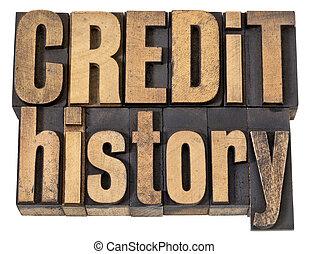 storia, legno, testo, credito, tipo