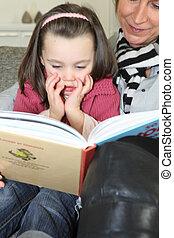 storia, lettura, nonna