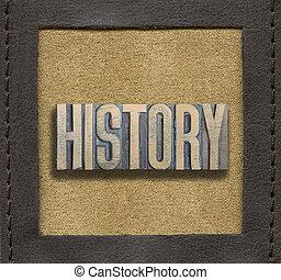 storia, parola, incorniciato