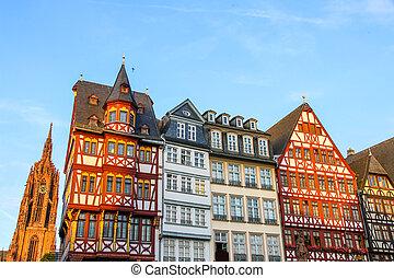 storico, centro, di, francoforte