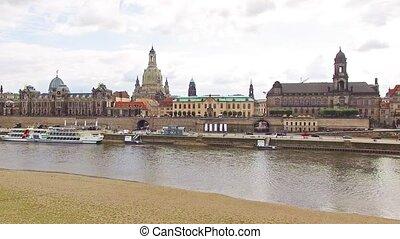 storico, centro, Dresda