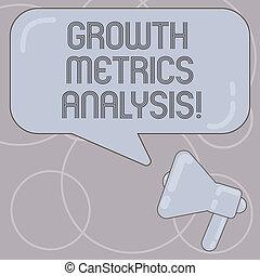 storico, concetto, foto, rettangolare, colore affari, testo, ditta, scrittura, metrics, riflessione., s, crescita, discorso, analysis., valutazione, vuoto, parola, megafono, bolla