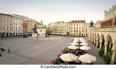 storico, Cracovia, mercato, quadrato