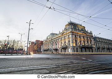 storico, poznanski, palazzo, lodz, polonia