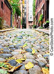 storico, strada ghianda, a, boston