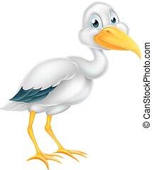 Stork Bird Cartoon