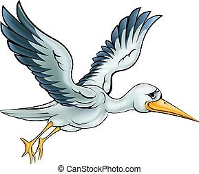 Stork Cartoon Bird