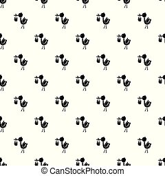 Stork child pattern vector seamless