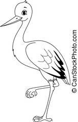 Stork coloring page