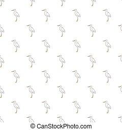 Stork pattern, cartoon style