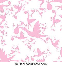 stork seamless pattern