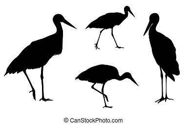 storks silhouettes