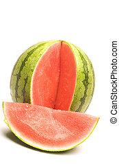 storlek, personlig, vattenmelon, seedless