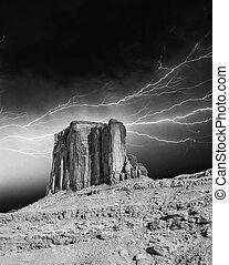 Storm above Monument Valley Rocks