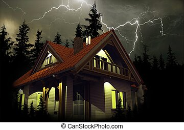 Storm Above the House