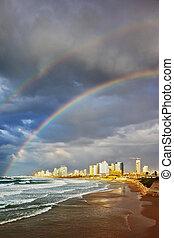 Storm and rainbow