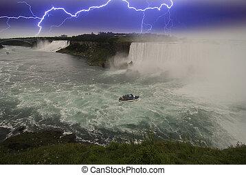 Storm approaching Niagara Falls, Canada
