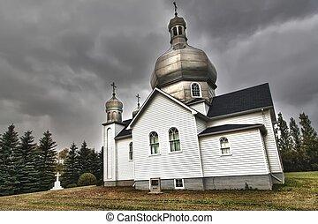 Storm Approaching the Church