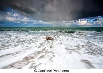 storm at Atlantic ocean coast