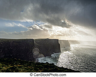 Cliffs of Moher. Ireland. - Storm at the Cliffs of Moher....