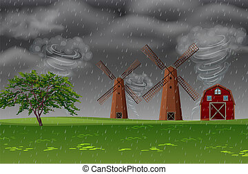 Storm at the farm