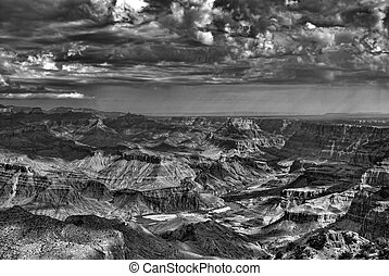 Storm at the Grand Canyon