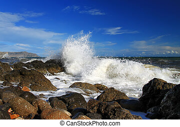 Storm at the sea shore