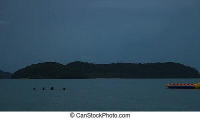 Storm Behind Island 3 - Stormy sea behind Rebak Island off...