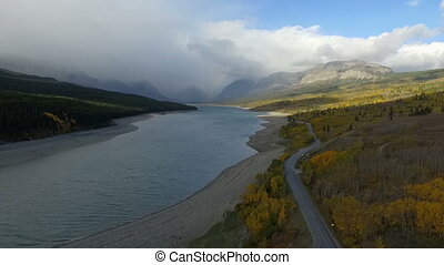 Storm Brewing Lake Sherburne North Entrance Glacier National...