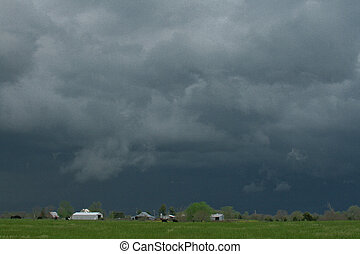 Storm Brewing - Swirling cloulds forming over the midwest...