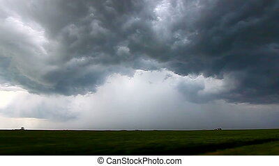 Storm Chasing Lightning Illinois - Raw storm chase video of...